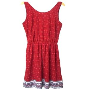 H&M divided size small short burgundy dress